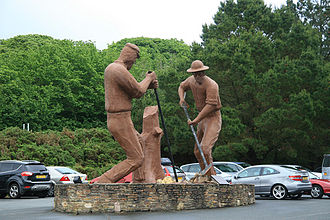 Welcome Stranger -  Statue in Redruth, England celebrating the find