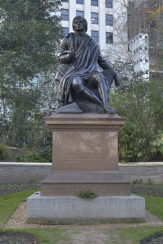 Robert Burns (Steell) - Image: Statue of Robert Burns, Victoria Embankment Gardens