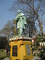 Statue of Triguna Sen during10th Anniversary Celebration of Bengali Wikipedia in Jadavpur University, Kolkata, 9-10 January, 2015 27.jpg