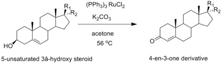 An Oppeneaur oxidation of pregnenolone