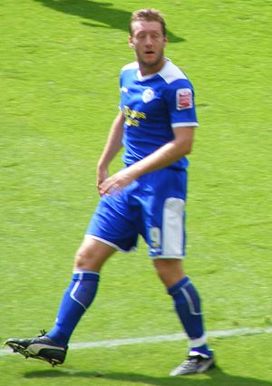 Steve Howard - Steve Howard playing for Leicester City, 13 September 2008