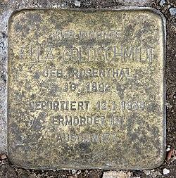 Photo of Ella Goldschmidt brass plaque