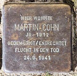 Photo of Martin Cohn brass plaque