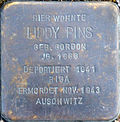 Stumbling block for Liddy Pins (Peterstrasse 26)