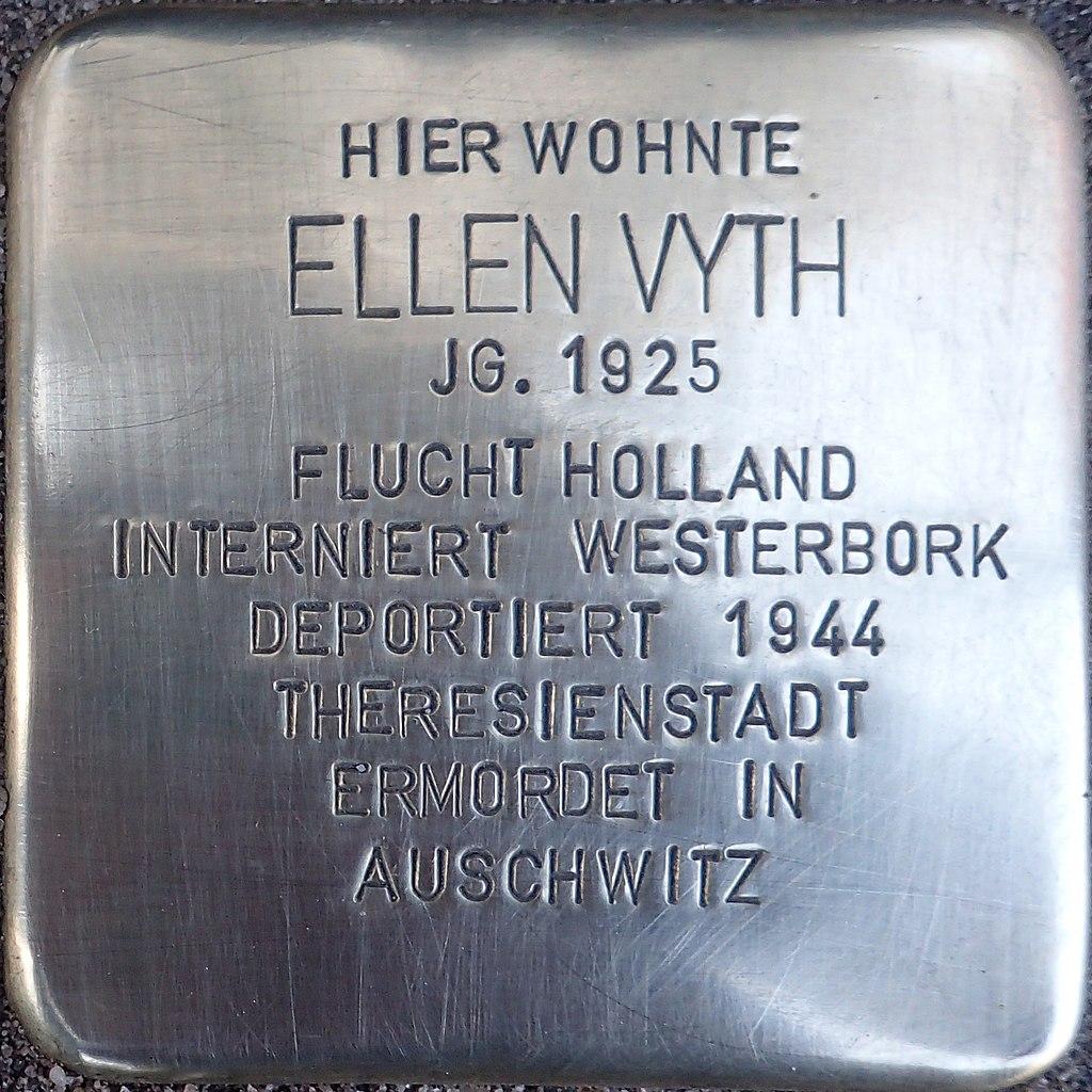 Stolperstein Kalkar Kesselstraße 19 Ellen Vyth