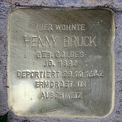 Photo of Henny Bruck brass plaque