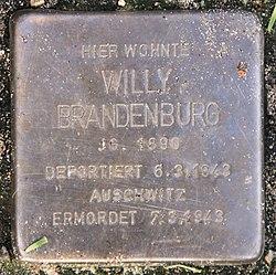 Photo of Willy Brandenburg brass plaque