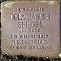 Stolperstein Salzburg, Bela Baruch Spiegel (Faberstraße 11).jpg