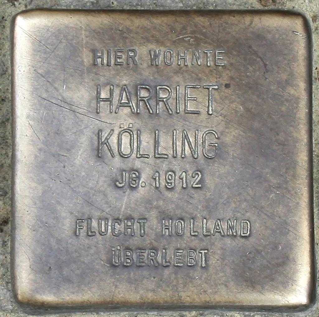 Stolperstein Schwerte Cava-dei-Tirreni-Platz 03 Harriet Kölling.jpg
