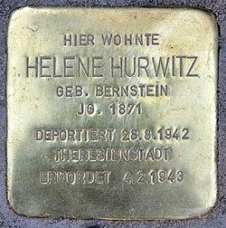 Photo of Helene Hurwitz brass plaque