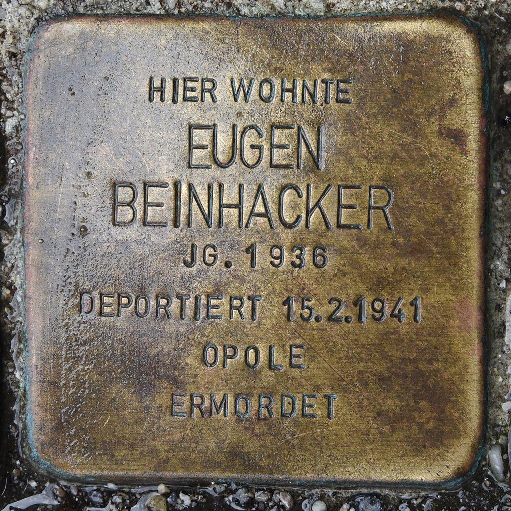 Stolperstein für Eugen Beinhacker.JPG