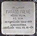 Stolperstein für Palne Farago (Nyíregyháza).jpg