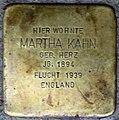 Stolpersteine Heidelberg, Martha Kahn (Bunsenstraße 7).jpg