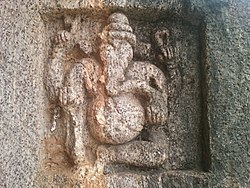 Stone carved Lord Ganapati at Dharapalem Temple