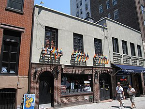 Stonewall riots - The Stonewall, a bar in part of the building where the Stonewall Inn was located. The building and the surrounding streets have been declared a National Historic Landmark.