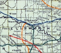 Stouffer's Railroad Map of Kansas 1915-1918 Ellsworth County.png