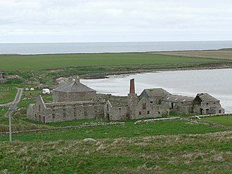"Sanday, Orkney - The ruins of the ""model farm"" at Stove"
