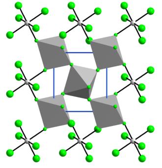 Vanadium tetrafluoride - Image: Struktur von Vanadium(IV) fluorid