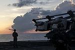 Sunrise, U.S. Marines hone casualty assistance skills at sea 151104-M-JT438-104.jpg