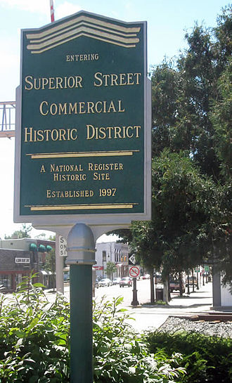 Albion, Michigan - Image: Superior Street Commercial Historic District