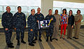 Surgeon general presents Blue 'H' flag to USNH Okinawa Health Promotion staff 130719-N-NY993-029.jpg