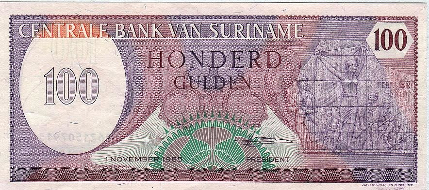 Surinam 100 Awers