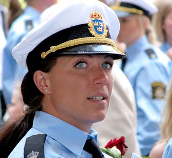 Swedish police woman at the police final-quali...