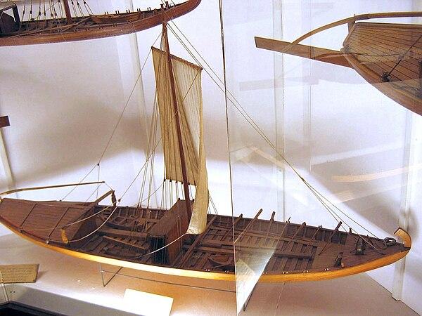 Model szkuty żaglowej w zbiorach Centralnego Muzeum Morskiego w Gdańsku. Źródło: Wikimedia Commons, autor: Mathiasrex Maciej Szczepańczyk, lic. CC-BY-3.0.