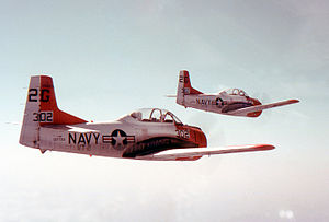 Naval Air Station Whiting Field - T-28s from VT-2 at Whiting field in 1967.