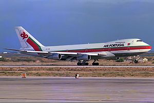 TAP Air Portugal - Boeing 747-200 at Faro Airport in 1985