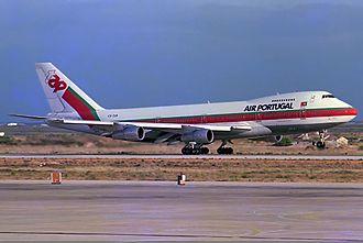 TAP Air Portugal - Boeing 747-200 at Faro Airport in 1985