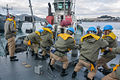 TCG Sokullu Mehmet Pasa leaving Cartagena, Trident Juncture 15 (22224272710).jpg