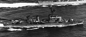 USS Keppler (DD-765) - Tınaztepe operating with other NATO ships in the Mediterranean Sea, 1979.