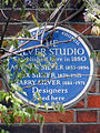 THE SILVER STUDIO Established here in 1880 ARTHUR SILVER 1853-1896 REX SILVER 1879-1965 HARRY SILVER 1881-1971 Designers lived here.jpg
