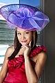 TV presenter Jen Su wearing a big hat.jpg