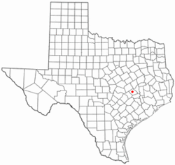 Location of Caldwell in the state of Texas.