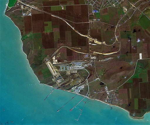 Taman Port (Russia), satellite image, 2018-03-05