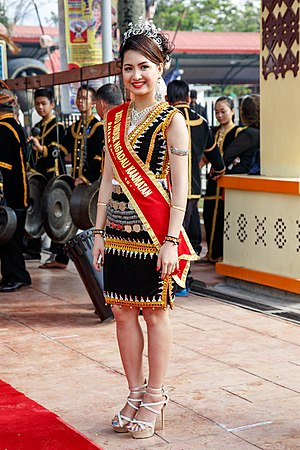 Demographics of Sabah - Kadazan-Dusun woman in their traditional dress.