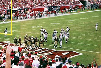 2002 Tampa Bay Buccaneers season - Game action between the Buccaneers and Saints at the 2002 Opening Day meeting.