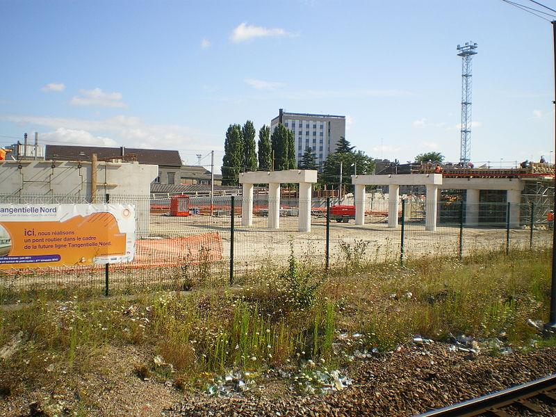 Tangentielle Nord - Noisy-le-Sec - Chantier de l'atelier d'entretien