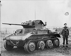 Littlejohn adaptor - Light tank Mk VII Tetrarch Mk I with Littlejohn adaptor.