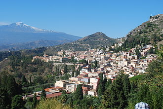 Albert Stopford - Taormina and Mt Etna