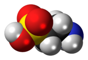 Space-filling model of the taurine molecule