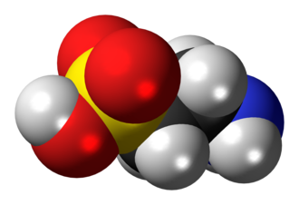Taurine - Image: Taurine molecule spacefill