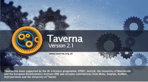 Apache Taverna - Taverna Workbench 2.1 splash screen