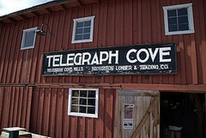 Telegraph Cove - Entrance at the pier