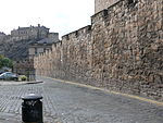 Telfer Wall and Flodden Wall bastion in Heriot Place, Edinburgh.jpg