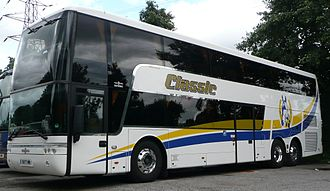 Tellings-Golden Miller - Van Hool bodied Volvo B12BT in Classic Coaches livery in August 2008