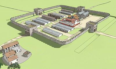 File:Templeborough Roman Fort visualised 3D flythrough - Rotherham (hi-res).webm