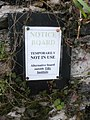 Temporary notice, Noss Mayo - geograph.org.uk - 1728572.jpg